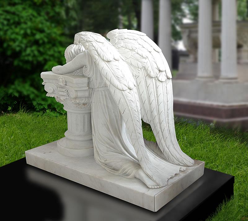 Памятник с ангелом Дмитровская Ваза. Лезниковский гранит Зерноград